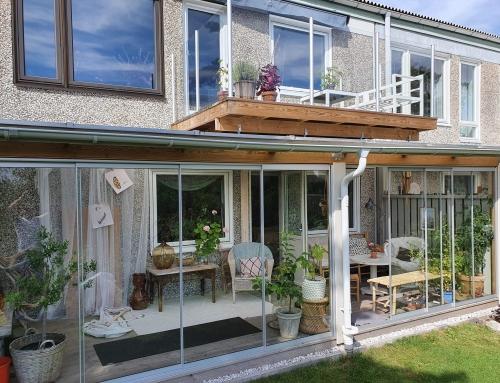 Tillbyggnad uterum och balkong